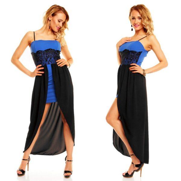 5fa5369c1ff Must-sinine pitsiga peokleit Eland – Lisa Fashion