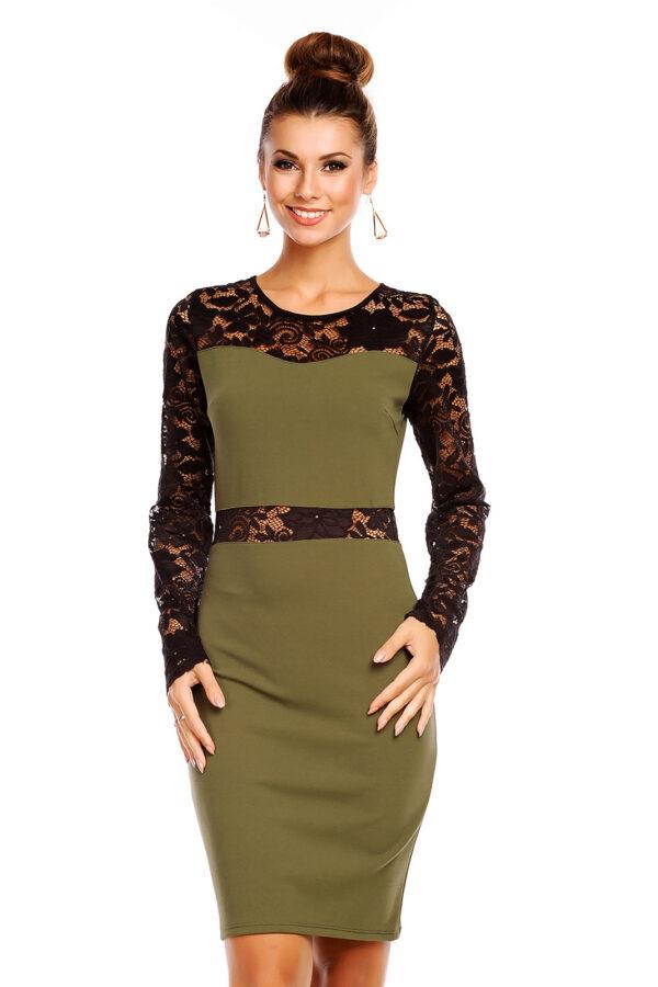 dress-6174-khaki-black-1-pcs