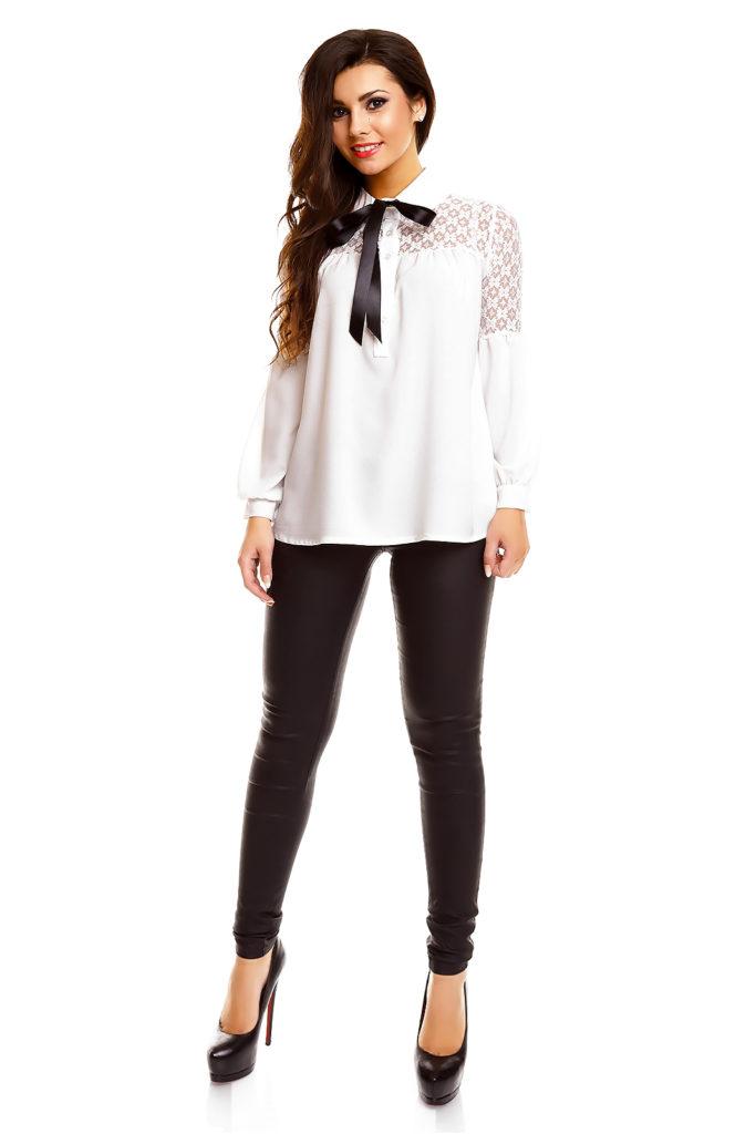 9417f3c68f1 Pitsi ja lipsuga valge pluus – Lisa Fashion