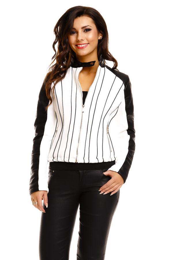 jacket-leder-chic-et-jeune-cv8253-white-black-4-pieces