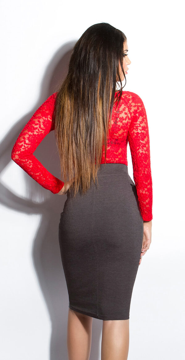 ooKouCla_High-Waist-skirt_with_leatherlook__Color_DARKGREY_Size_38_0000ISF-SK536_DUNKELGRAU_12_1