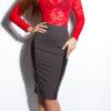 ooKouCla_High-Waist-skirt_with_leatherlook__Color_DARKGREY_Size_38_0000ISF-SK536_DUNKELGRAU_15_1