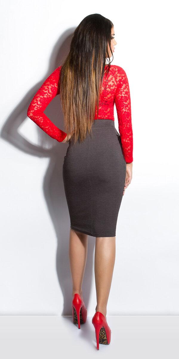 ooKouCla_High-Waist-skirt_with_leatherlook__Color_DARKGREY_Size_38_0000ISF-SK536_DUNKELGRAU_2_1