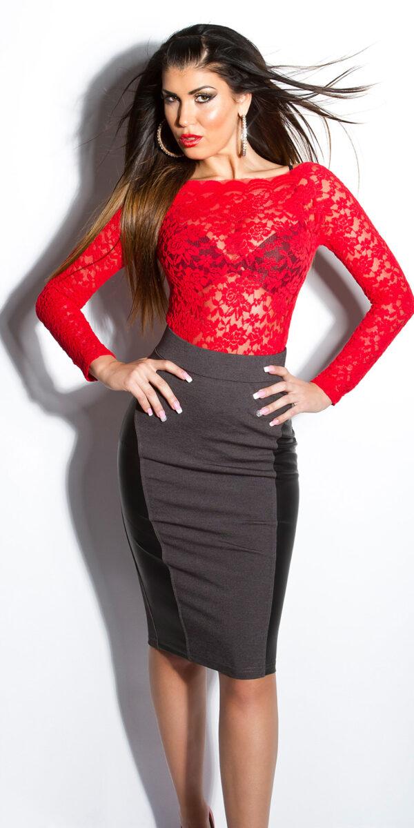 ooKouCla_High-Waist-skirt_with_leatherlook__Color_DARKGREY_Size_38_0000ISF-SK536_DUNKELGRAU_6_1
