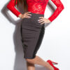 ooKouCla_High-Waist-skirt_with_leatherlook__Color_DARKGREY_Size_38_0000ISF-SK536_DUNKELGRAU_8_1