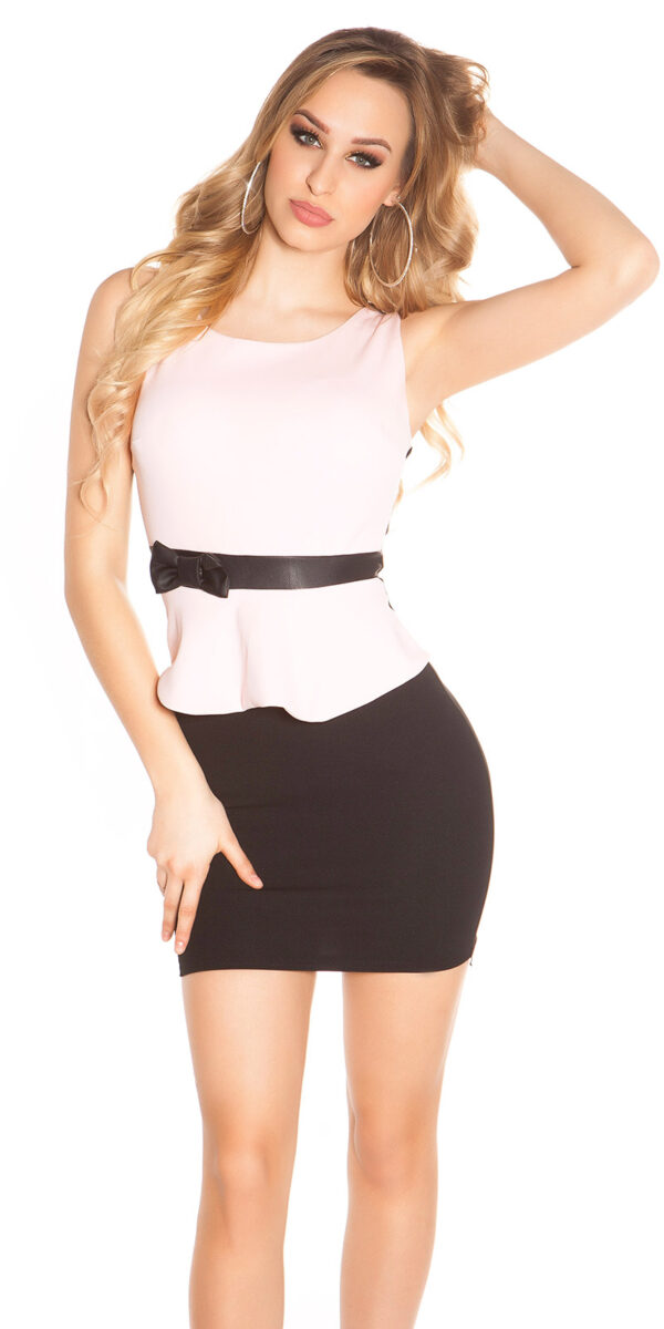 ooKoucla_sheath_dress_with_shirttailBow__Color_PINK_Size_L_0000J11052-N_ROSA_1