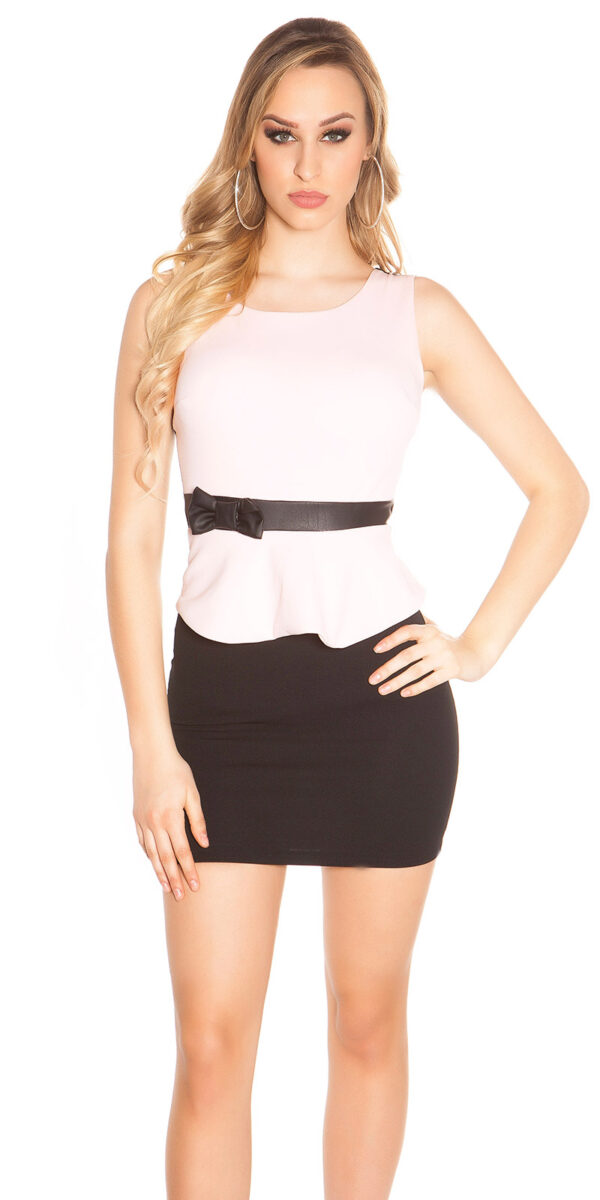 ooKoucla_sheath_dress_with_shirttailBow__Color_PINK_Size_L_0000J11052-N_ROSA_3