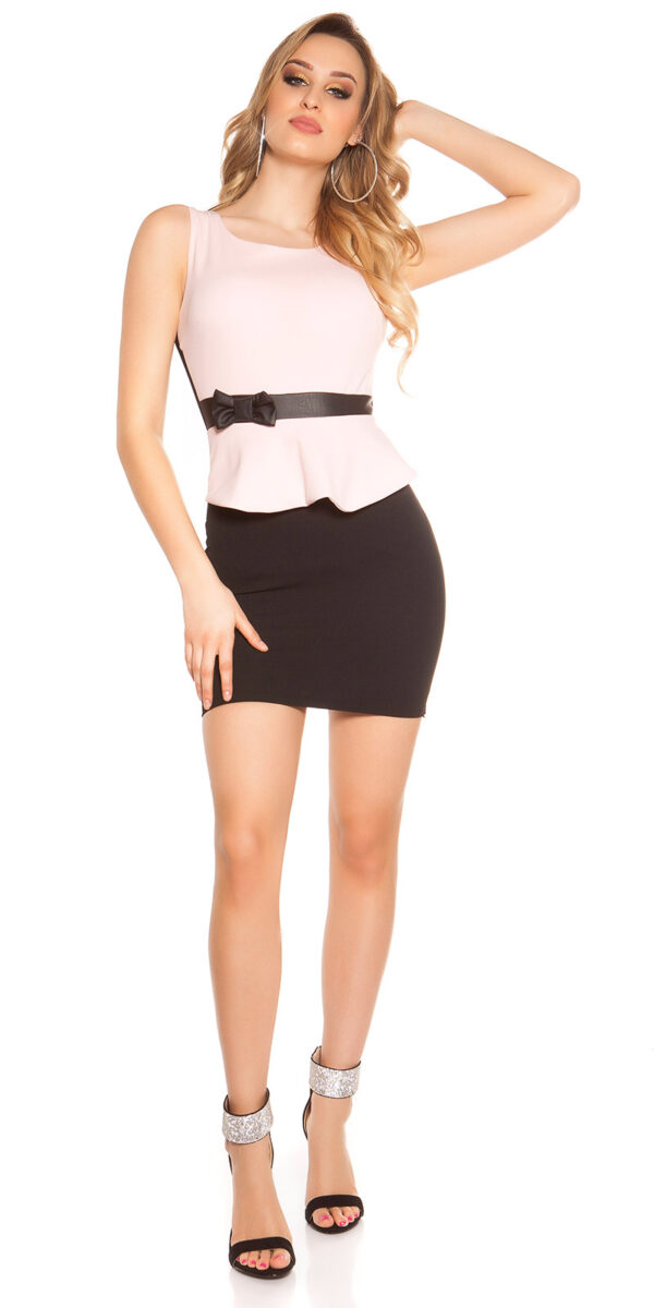 ooKoucla_sheath_dress_with_shirttailBow__Color_PINK_Size_L_0000J11052-N_ROSA_8