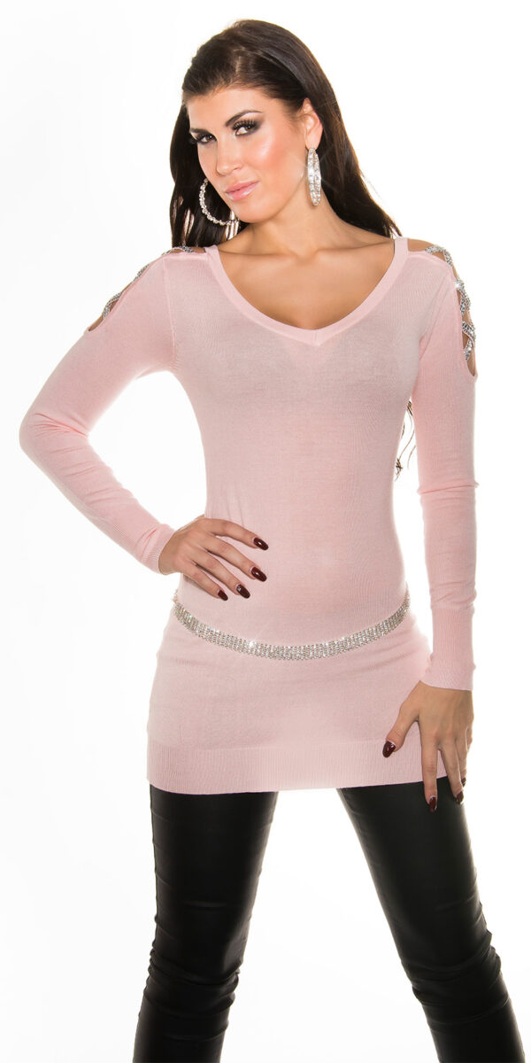 ooKouCla_long_sweater_w_rhinestone_at_shoulder__Color_PINK_Size_Onesize_0000ISF8218_ROSA_37
