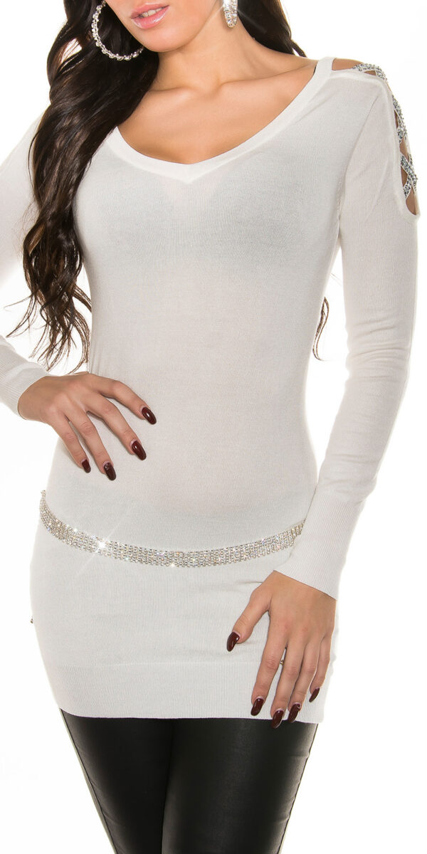 ooKouCla_long_sweater_w_rhinestone_at_shoulder__Color_WHITE_Size_Onesize_0000ISF8218_WEISS_54