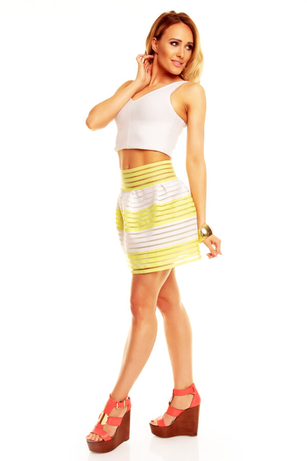skirt-lucce-lc-6016-yellow-white-2-pcs~3