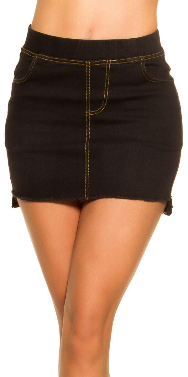 eeJeans-Mini_skirt_Used_Look_with_pockets__Color_BLACK_Size_LXL_0000ENJUPE-10_SCHWARZ_34