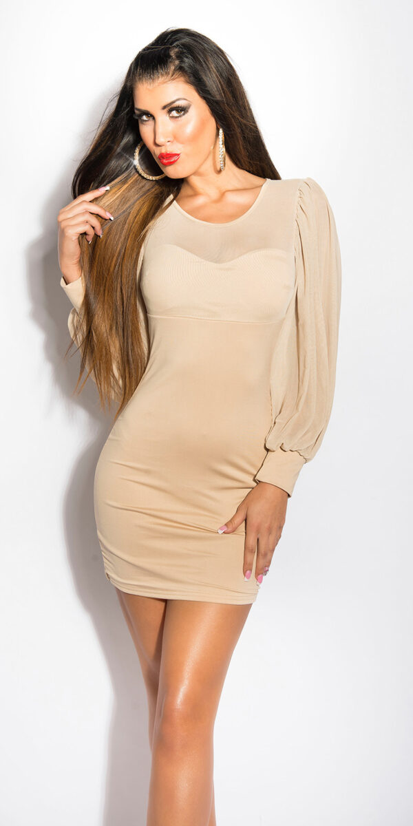 ooKouCla_minidress_with_puffy_sleeves__Color_BEIGE_Size_Onesize_0000KO-02828_BEIGE_1