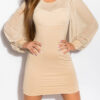 ooKouCla_minidress_with_puffy_sleeves__Color_BEIGE_Size_Onesize_0000KO-02828_BEIGE_4_1