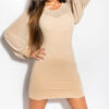 ooKouCla_minidress_with_puffy_sleeves__Color_BEIGE_Size_Onesize_0000KO-02828_BEIGE_6_1