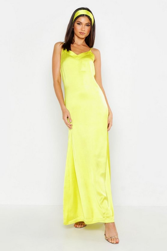 womens-chartreuse-woven-v-neck-maxi-dress-with-matching-head-scarf