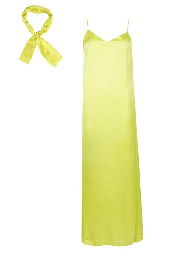 womens-chartreuse-woven-v-neck-maxi-dress-with-matching-head-scarf2