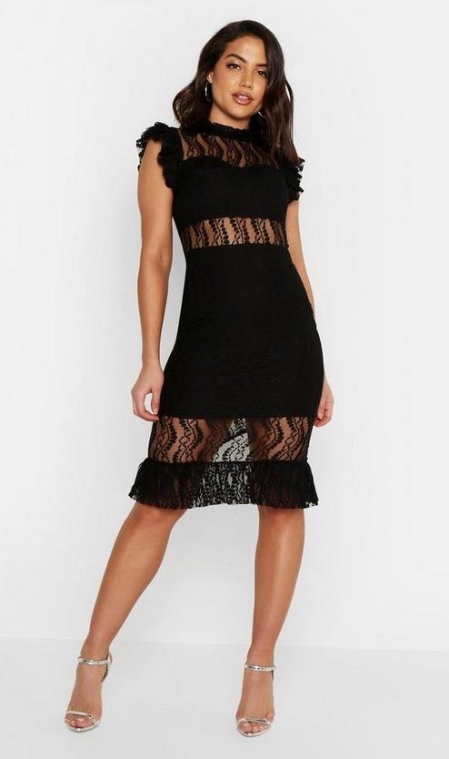 black-all-over-lace-short-sleeve-midi-dress1