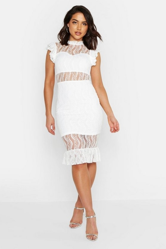 white-all-over-lace-short-sleeve-midi-dress