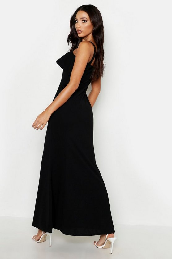 womens-black-square-neck-ruffle-front-maxi-dress1