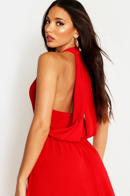 womens-black-woven-v-neck-cowl-back-maxi-dress3