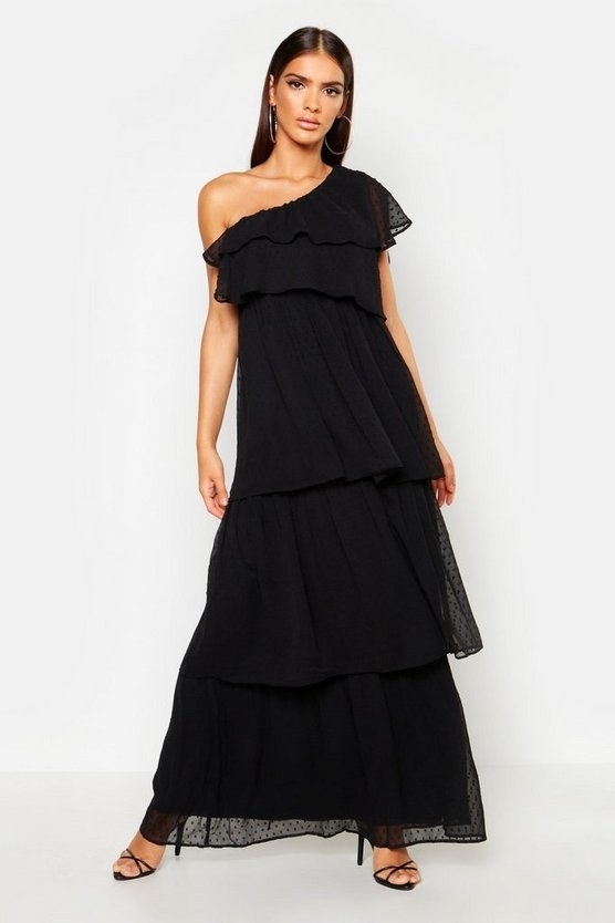 black-dobby-one-shoulder-extreme-tiered-maxi-dress