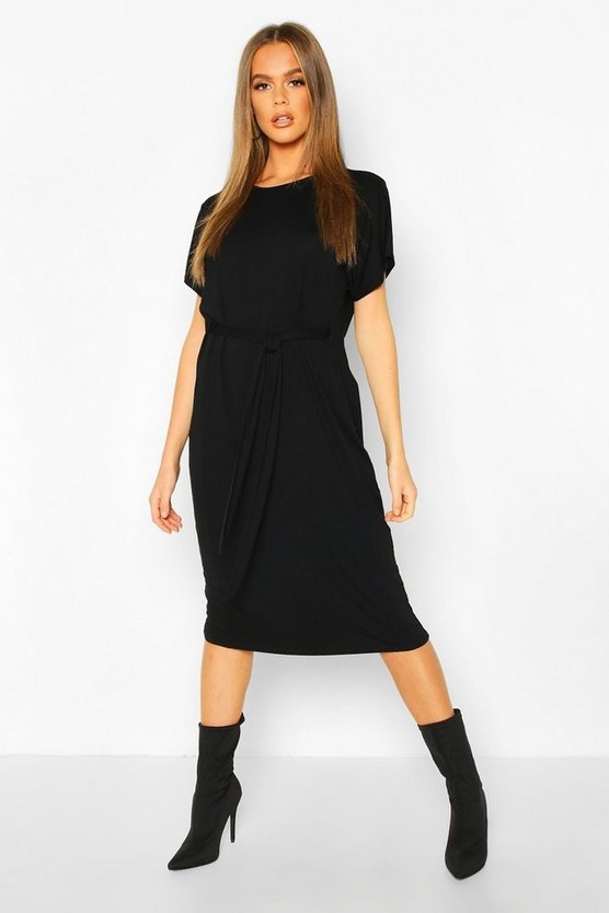 black-tie-waist-curve-hem-t-shirt-dress