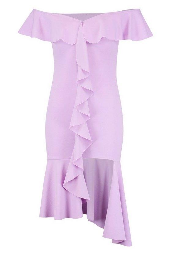 purple-off-the-shoulder-frill-detail-midi-dress2