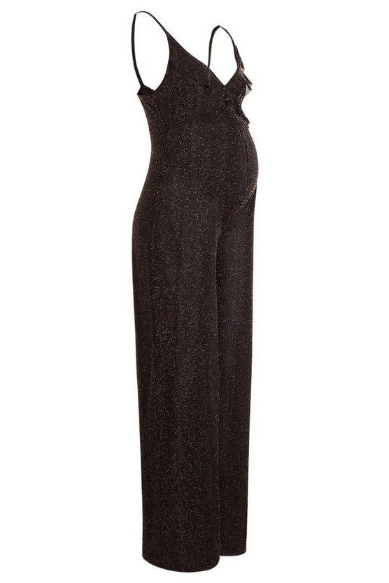 gold-maternity-shimmer-frill-plunge-jumpsuit2