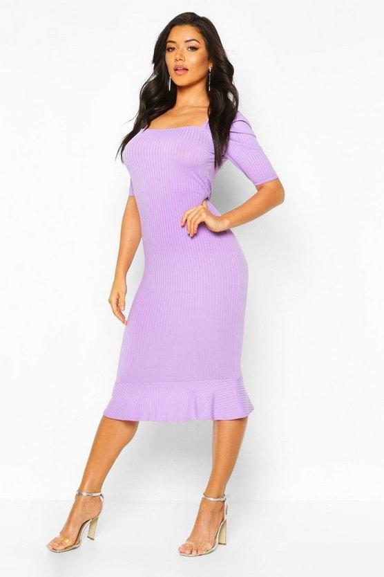 lilac-grey-jumbo-rib-peplum-hem-midi-dress4