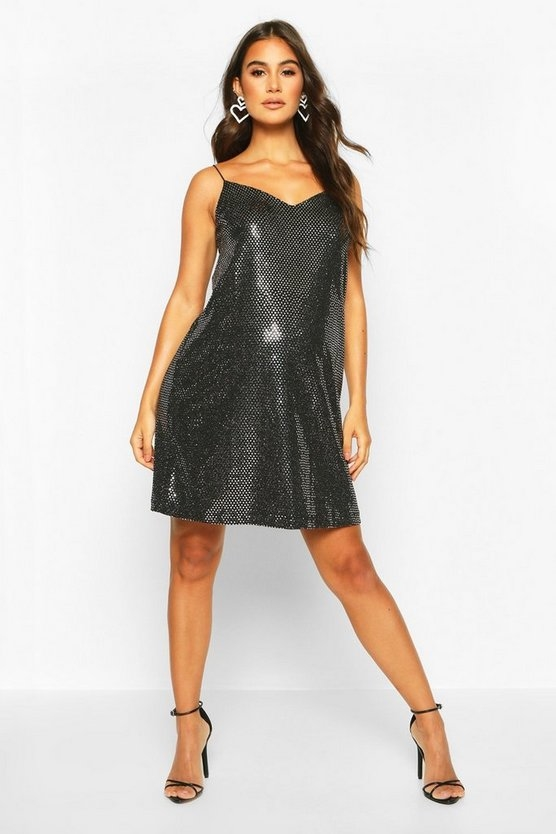 silver-maternity-sequin-cami-slip-dress