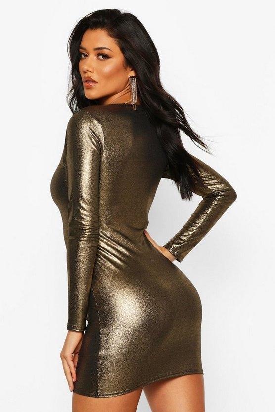 gold-long-sleeve-square-bodycon-mini-dress1