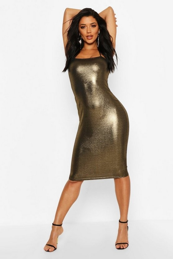 gold-metalliic-square-neck-strappy-midi-dress3
