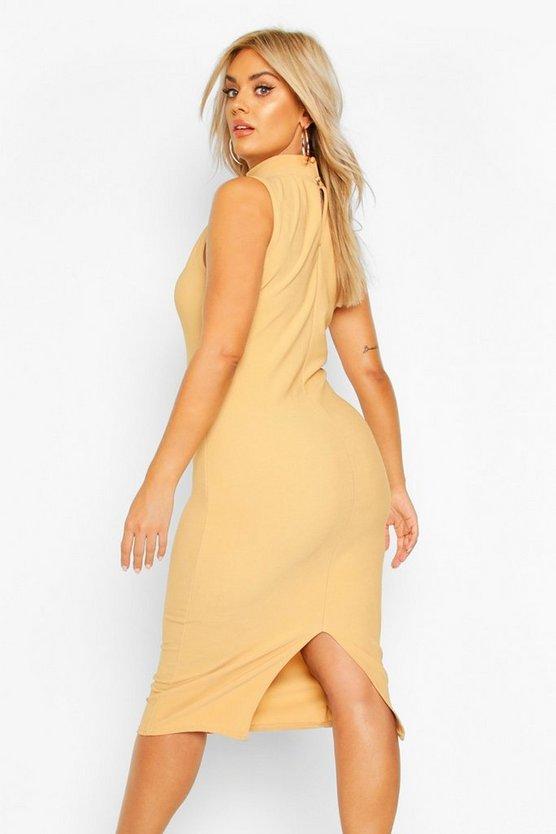 stone-plus-bandage-rib-high-neck-midi-dress1
