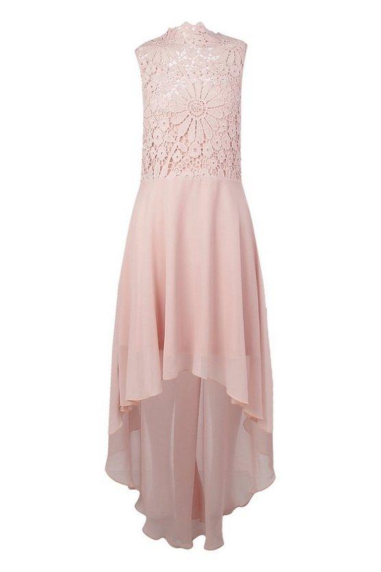 boutique-lace-&-chiffon-dip-hem-bridesmaid-dress (2)