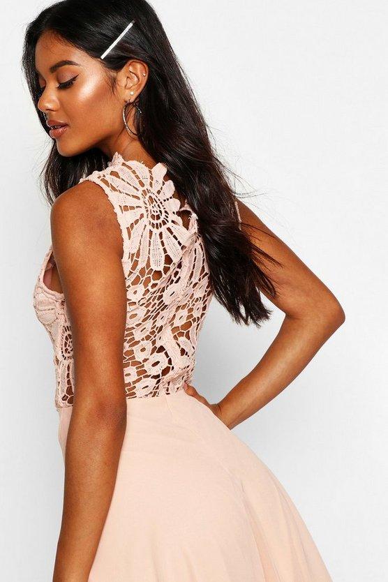 boutique-lace-&-chiffon-dip-hem-bridesmaid-dress (3)
