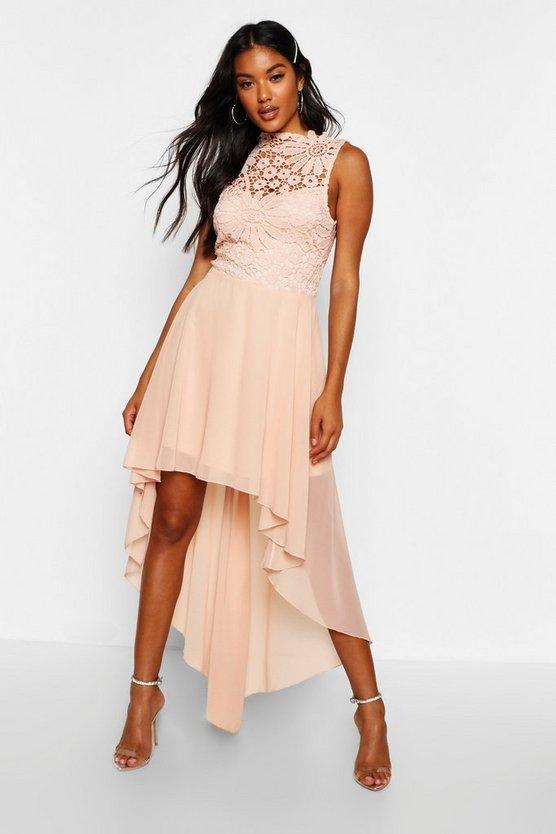 boutique-lace-&-chiffon-dip-hem-bridesmaid-dress