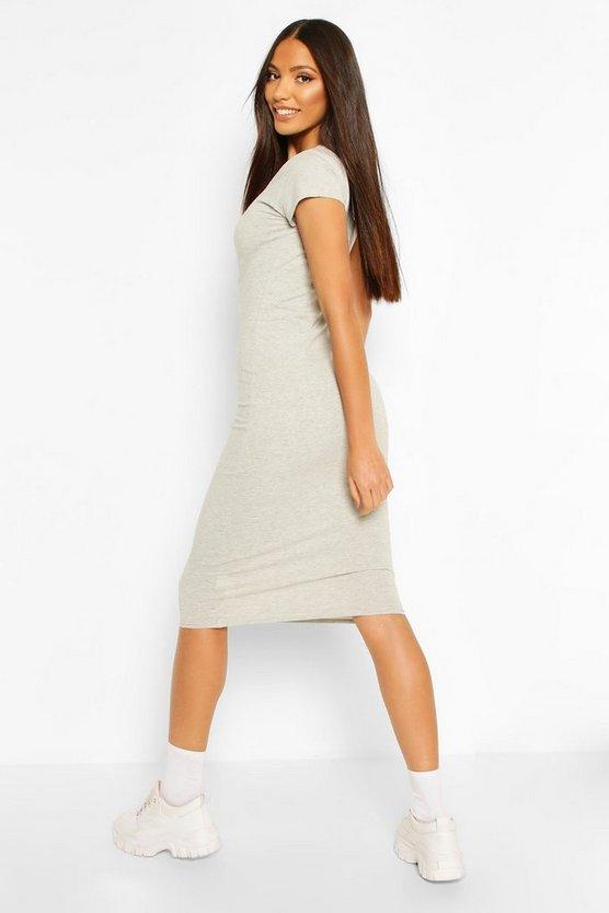 grey-marl-black-cap-sleeve-bodycon-midi-dress1
