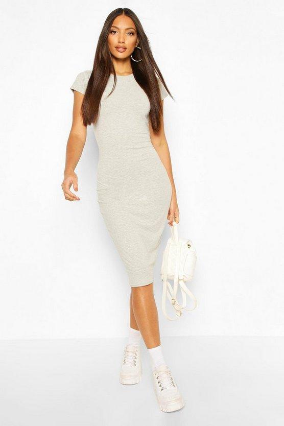 grey-marl-black-cap-sleeve-bodycon-midi-dress3