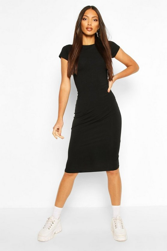 grey-marl-black-cap-sleeve-bodycon-midi-dress4