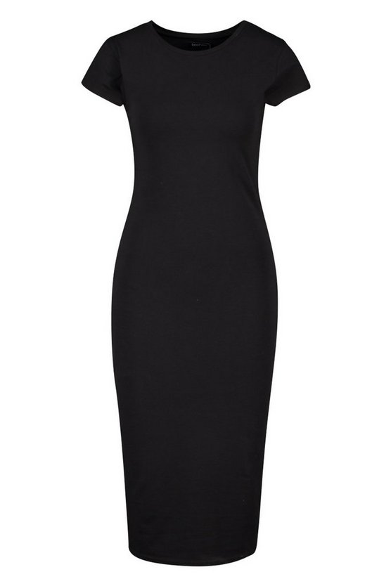 grey-marl-black-cap-sleeve-bodycon-midi-dress5
