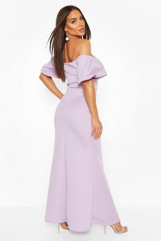 black-puff-ball-sleeve-fishtail-maxi-dress1