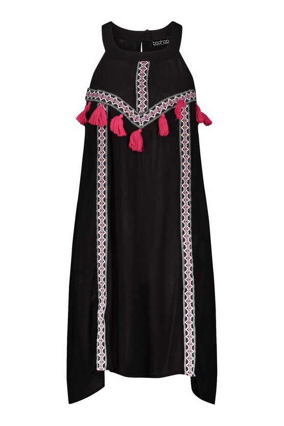 black-tassel-detail-swing-dress2