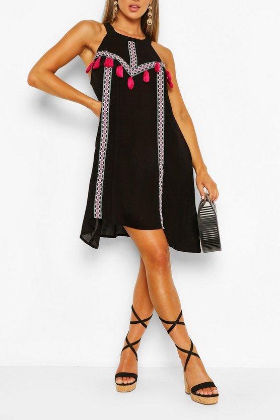 black-tassel-detail-swing-dress3