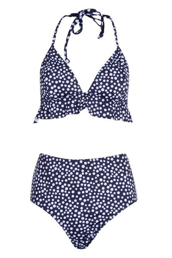 black-polka-dot-ruffle-high-waist-bikini (2)